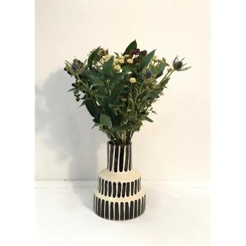 """Vase """"Tirets"""" noires"""