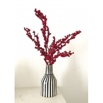"Vase ""Rayures"" noires"