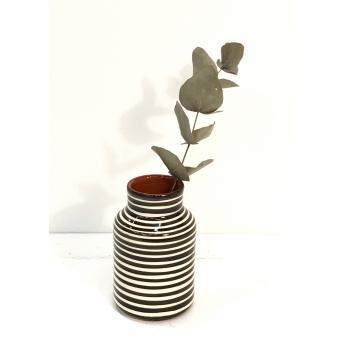 "Petit pot ""rayures horizontales"" noires"