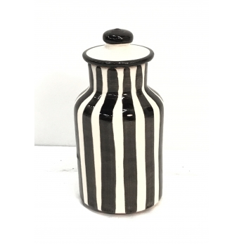 "Jar ""vertical stripes"" black"