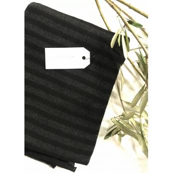 Scarf, drak stripes knit