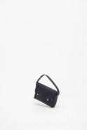 The shoulder strap rectangle bag, blue leather
