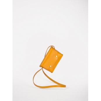 Le rectangle à bandoulière en cuir safran
