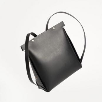Le sac à dos en cuir noir