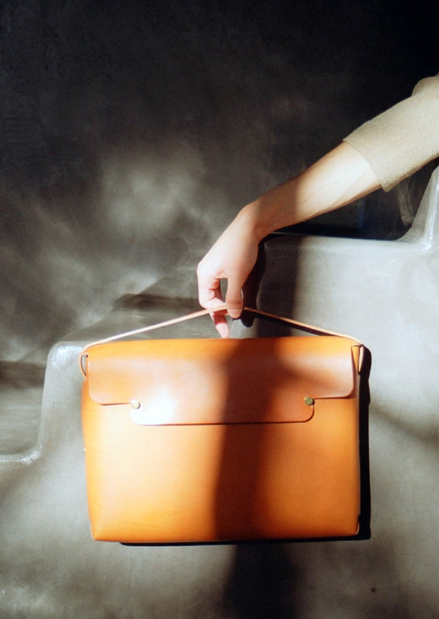 Therectangle schoolbag, whisky leather