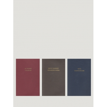 """3 soft cover notebooks """"Text"""""""