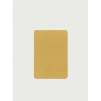Pack of 5 rounded corner cards, gold