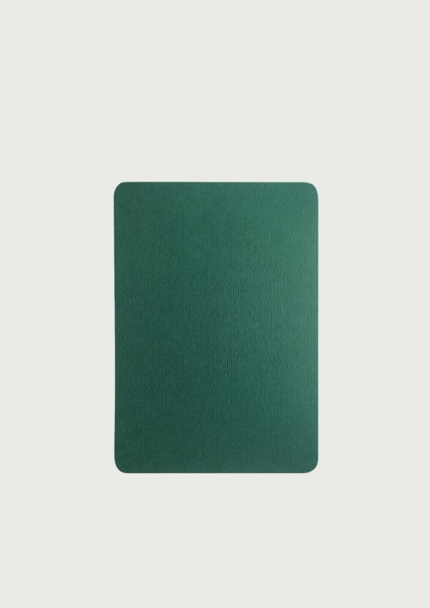 5 cartes A6, bords arrondis, vert sapin