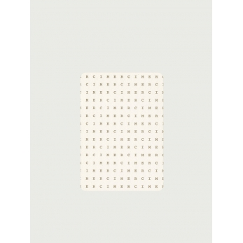 Pack of 5 rounded corner cards, Merci