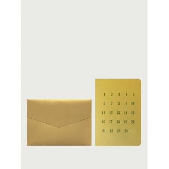Carte postale + enveloppe Calendrier de l'Avent