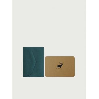 Mini card + enveloppe Reindeer