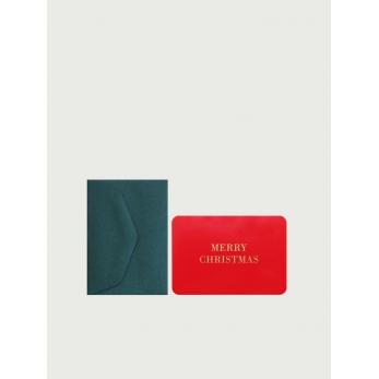 Mini card + enveloppe Merry Christmas