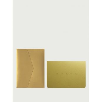 Card A6 + enveloppe Merci gold