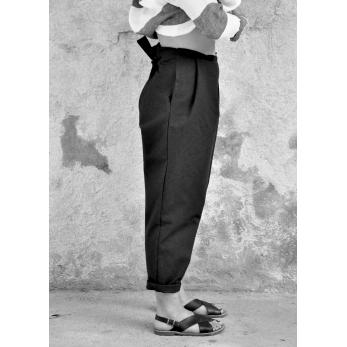Pantalon noué, jean noir