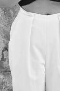 Pantalon noué, jean blanc