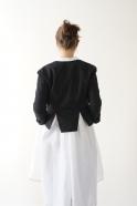 Short jacket, black denim