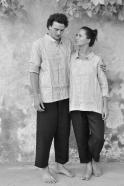 Mixt shirt, light stripes linen