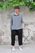 Unisex shirt, grey linen