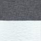 Bow skirt, white stripes linen