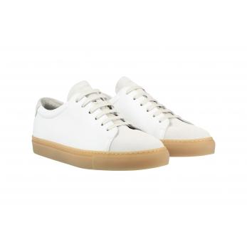 Sneakersfor men, white suede