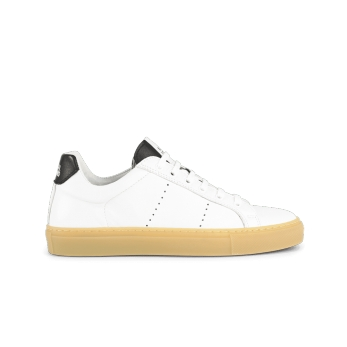 Sneakers, white and black leather