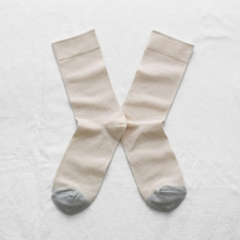 """Plain"" socks, natural"