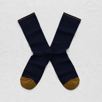 """Plain"" socks, Night blue"