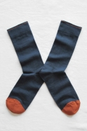 """Plain"" socks, Slate blue"