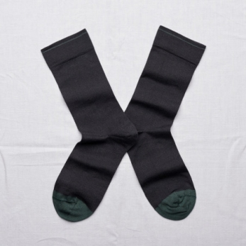 """Plain"" socks, Off black"