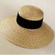 Capelina hat, natural straw