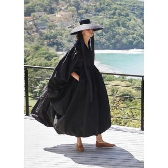 Campana hat, black straw