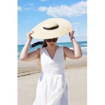 Maxi hat, natural straw