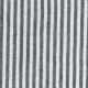 Robe évasée manches 3/4, col V, lin rayures claires