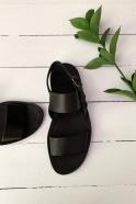 Sandals for men Taizé, black leather