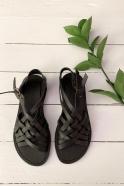 Sandales Annabel, cuir noir
