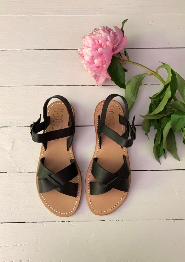 Sandals Pac, black leather