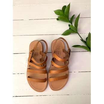 Sandals Cabourg, natural leather