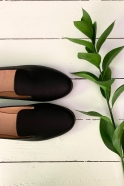 Slip on Opale, black leather