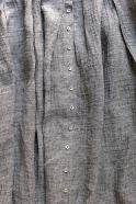 Long strap dress, grey linen