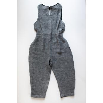 Bow jumpsuit, grey linen