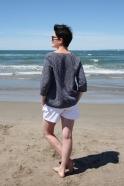 Short, jean blanc