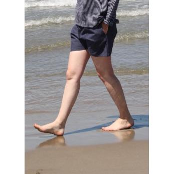 Short, blue jean