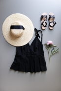 Basic hat, natural straw