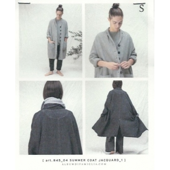 Summer coat, grey cotton