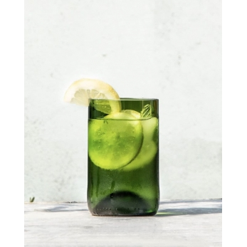 "Pack of 4 green ""Long drink"" glasses ""Q de bouteilles"""