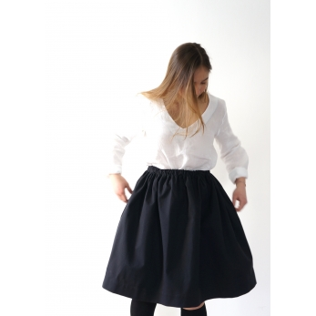 Skirt, black denim