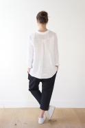 Saroual trousers, black denim