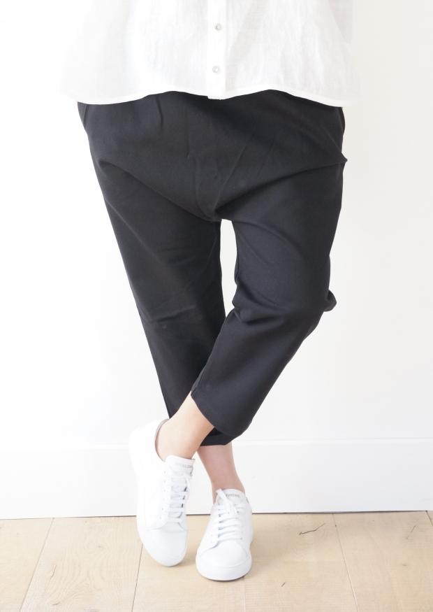 Pantalon sarouel, jean noir