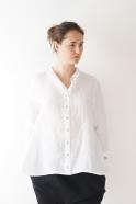"""Shirt """"woman"""", white linen"""