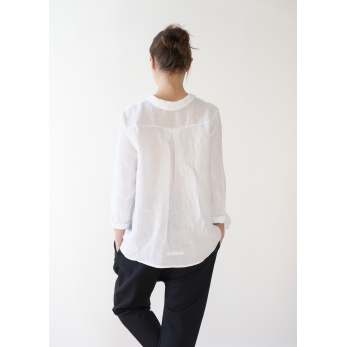 "Shirt ""woman"", white linen"